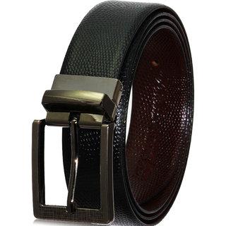 POLLSTAR  Formal Feather Edge Reversible Black  Brown Italian Leather Men's Belt (BT105)