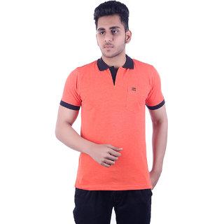 Ogarti Men's Orange Polo Collar T-shirt