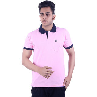 Ogarti Men's Pink Polo Collar T-shirt