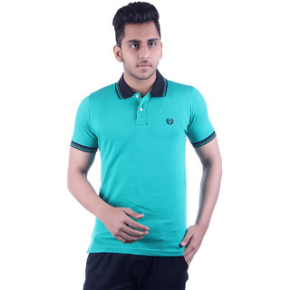 Ogarti Men's Turquoise Polo Collar T-shirt
