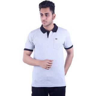 Ogarti Men's White Polo Collar T-shirt