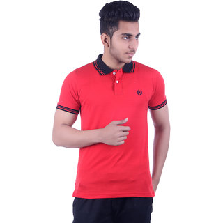 Ogarti Men's Red Polo Collar T-shirt