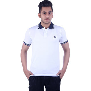 Ogarti Men's White Polo Collar T-shirt