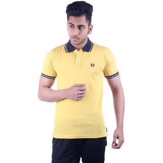 Ogarti Men's Yellow Polo Collar T-shirt