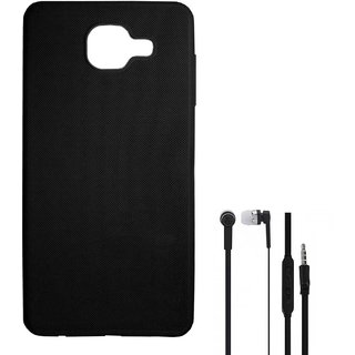 the best attitude 4e596 5e4ad TBZ Rubberised Silicon Soft Back Cover Case for Samsung Galaxy J7 Max with  Earphone -Black
