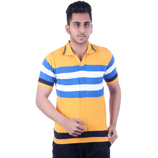 Ogarti Men's Yellow Polo Collar T-shirt