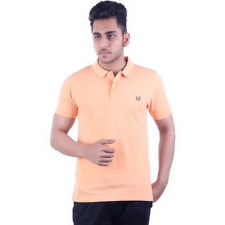Ogarti Men's Peach Polo Collar T-shirt