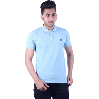 Ogarti Men's Blue Polo Collar T-shirt