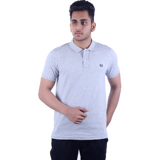 Ogarti Men's Grey Polo Collar T-shirt