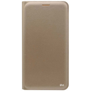 TBZ PU Leather Flip Cover Case for Samsung Galaxy On8 -Golden