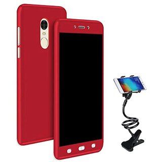 TBZ 360 Degree Protection Front & Back Case Cover for Vivo Y66 with Flexible Tablet/Phone Holder Lazy Stand -Red
