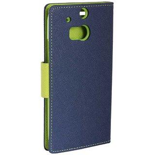 TBZ Wallet Flip Cover Case for Vivo Y66 -Blue-Green