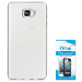 TBZ Transparent Silicon Soft TPU Slim Back Case Cover for Samsung Galaxy J7 Max with Tempered Screen Guard