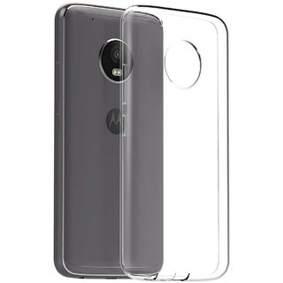 TBZ Transparent Silicon TPU Slim Back Case Cover for Motorola Moto G5 Plus
