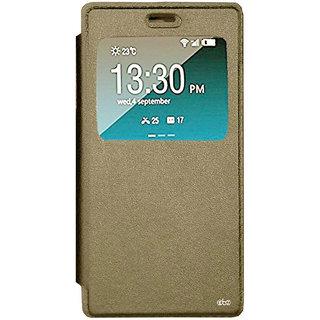 TBZ Window Premium Flip Cover Case for Oppo A37 -Gold