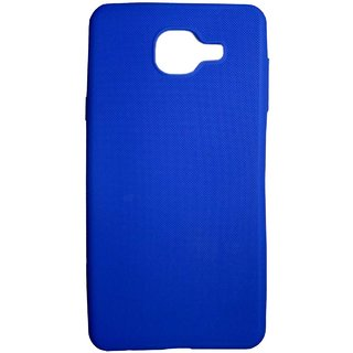 TBZ Rubberised Silicon Soft Back Cover Case for Samsung Galaxy J7 Max  -Blue