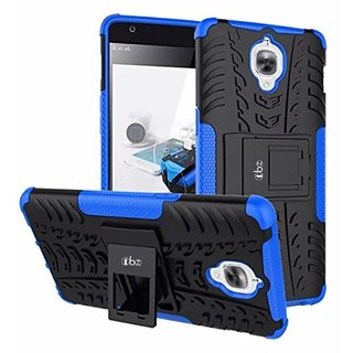 TBZ Hard Rubberized Kickstand Back Cover Case for OnePlus 3T -Blue
