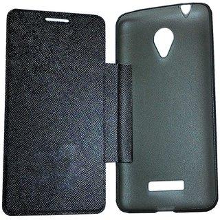 TBZ Flip Case for Micromax Canvas Mega Q417 -Black