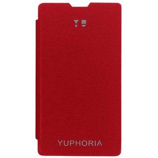 TBZ Flip Cover Case for YU Yuphoria YU5010 -Red
