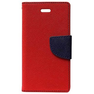 TBZ Diary Wallet Flip Cover Case for Samsung Galaxy J7 Max -Red