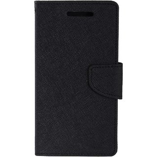 TBZ Diary Wallet Flip Cover Case for Samsung Z4 -Black