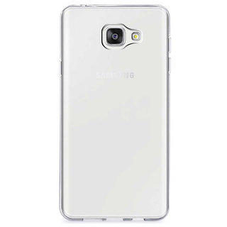 TBZ Transparent Silicon Soft TPU Slim Back Case Cover for Samsung Galaxy On Max
