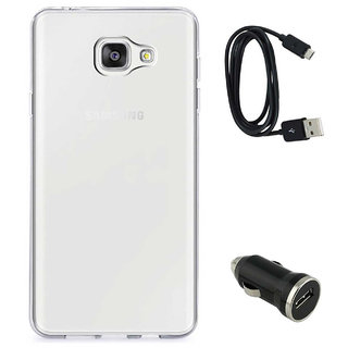TBZ Transparent Silicon Soft TPU Slim Back Case Cover for Samsung Z4 with Car Charger and Data Cable