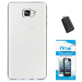 TBZ Transparent Silicon Soft TPU Slim Back Case Cover for Samsung Z4 with OTG Adaptor and Tempered Screen Guard