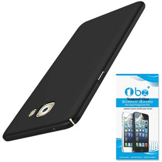 TBZ Hard Back Case Cover for Samsung Galaxy On Max with Tempered Screen Guard  -Black