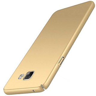 TBZ Sides Protection Hard Back Case Cover for Samsung Galaxy J7 Max  -Golden
