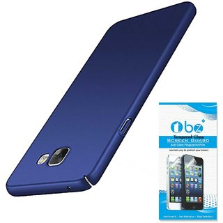 TBZ Protection Hard Back Case Cover for Samsung Galaxy J7 Max with Tempered Screen Guard  -Blue