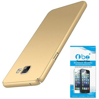 TBZ Hard Back Case Cover for Samsung Galaxy J7 Max with Tempered Screen Guard  -Golden