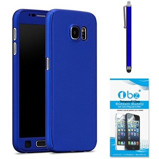 TBZ 360 Degree Protection Front & Back Case Cover Cover for Samsung Galaxy On Max with Stylus Pen and Tempered Screen Guard  -Blue