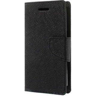 TBZ Diary Wallet Flip Cover Case for Motorola Moto G5 Plus -Black