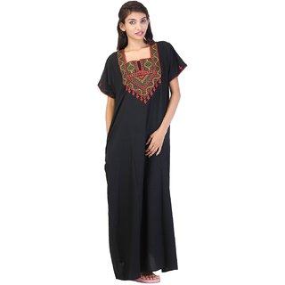 bd5de7e36e Buy Valencia Sleepwear Women s Embroidery Night Gown Nighty Maxi Nightwear  Lizzybizzy cotton Online   ₹1199 from ShopClues
