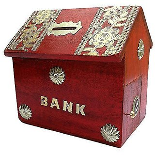 Craft kings Wooden Money Bank Home Style Black Kids Piggy Coin Box Giftshandicrafted Wooden Money Bank Home Style Black