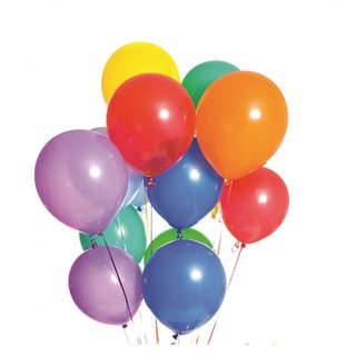Multicolor Metallic Balloons- Pack of 50 Balloons