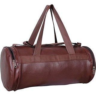 CP Bigbasket Antique Leather Rite Double Sided Zip Sports And Gym Duffle Bag  (Brown) c21be35e61c3b