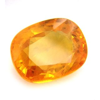 Dinesh Enterprises, 5.25 Ratti / 4.72 Carat Natural Yellow Sapphire 100 Certified  Natural Earth Mined Best Quality Ge