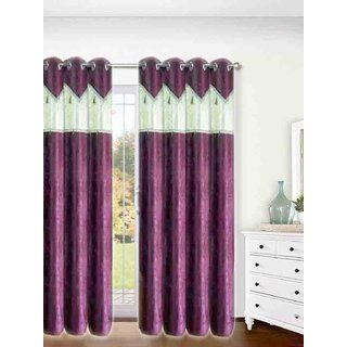 SHINE MULTI COLOR ATTRACTIVE DESIGN SET OF 2 DOOR  WINDOW CURTAINS. (SIZE 7X4 Feet) MC542