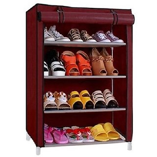 SHOE RACK (CROBAT) MAROON 4-LAYER