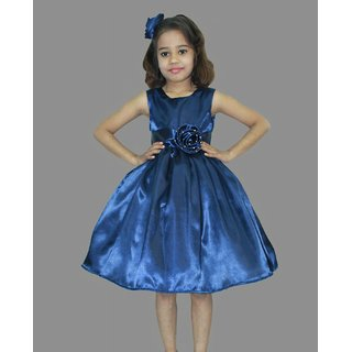 Buy Queens Island Royal Blue Kids Frock Girls Princess Costume For