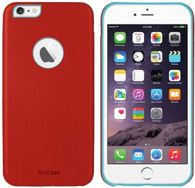 AirCase iPhone 6s Plus/ 6 Plus Leather Feel 1mm Slim Back Case/Cover with Cut Out (Red)