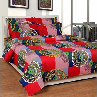BeautifulHomes Premium Cotton Double Bedsheet with 2 Pillow Covers AHF-ZAIN316