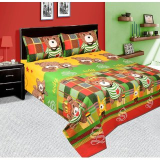 BeautifulHomes Premium Cotton Double Bedsheet with 2 Pillow Covers AHF-ZAIN322