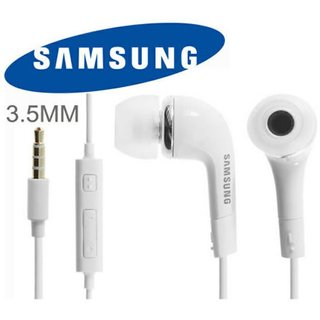 Samsung Galaxy A5 / Galaxy A7 Earplug WIth Mic  Earphoneee Headset With Deep Bass And Music Equalizer (White/Black)