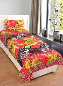 RD TREND Single Bed Sheet With Pillow Cover