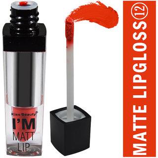 Kiss Beauty Im Matt Lip Long Lasting Waterproof Lipgloss Lipstick 12-Shade