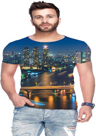 Raves Men's Poly Cotton T-shirts (City Tees 01)