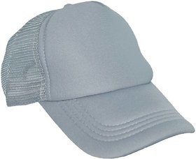 XTR  Solid Grey Netted Stylish Hat Cap